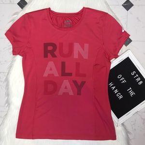 Asics pink activewear running shirt size Small